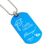 Personalized, Graduation Dog Tag, Blue