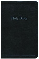 NKJV Giant-Print Personal-Size  Reference Bible--imitation Leather, black