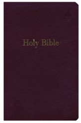 NKJV Giant-Print Personal-Size  Reference Bible--imitation leather, burgundy