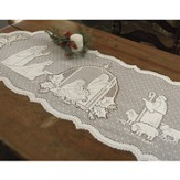 Silent Night--Lace Table Runner
