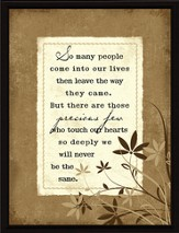 So Many People Come into Our Lives Plaque