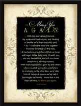 Marry You Again Plaque