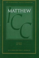 Matthew 19-28, International Critical Commentary