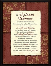 A Virtuous Woman Plaque