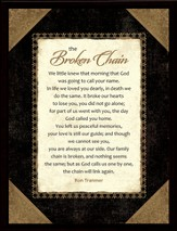 Broken Chain Framed Plaque, Gift Boxed
