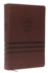 KJV Word Study Bible, Imitation Leather, Brown, Red Letter Edition
