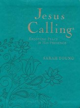 Jesus Calling, Deluxe  Ed. Large Print - Imitation Leather,  Turquoise