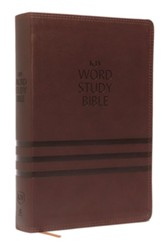 KJV Word Study Bible, Imitation Leather, Brown, Indexed, Red Letter Edition