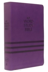 KJV Word Study Bible, Imitation Leather, Purple, Indexed, Red Letter Edition