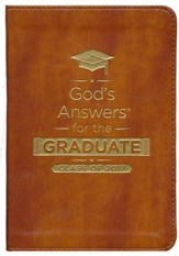 God's Answers for the Graduate: Class of 2017 - Imitation Leather, Brown: New King James Version, Special edition