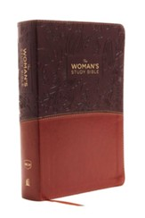 The NKJV Woman's Study Bible, Imitation Leather Brown/Burgundy, Full-Color
