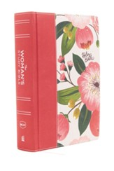 The NKJV, Woman's Study Bible, Cloth over Board, Pink  Floral, Full-Color: Receiving God's Truth for Balance, Hope, and Transformation