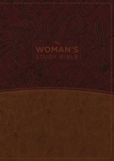 The NKJV Woman's Study Bible, Fully Revised, Imitation Leather, Brown/Burgundy, Full-Color, Indexed