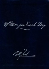 Wisdom for Each Day, Signature Edition--soft leather-look, navy blue
