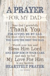 Prayer For My Dad Wood Plaque