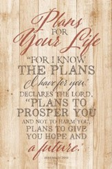 Plans For Your Life Wood Plaque