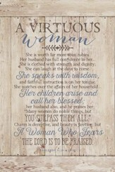 Virtuous Woman Wood Plaque