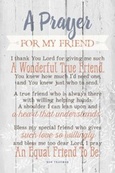 Prayer For My Friend Wood Plaque