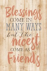 Blessings Come In Many Wood Plaque