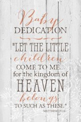 Baby Dedication Wood Plaque