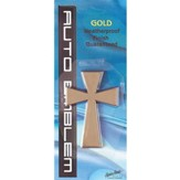 Cross Auto Emblem, Gold, Large