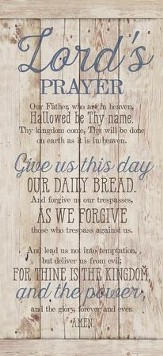 Lord's Prayer Wood Plaque