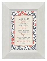 May Our Home Be Firmly Built Upon Faith, Mini Framed Print