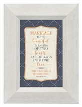 Marriage is the Beautiful Blending of Two Hearts, Mini Framed Print
