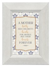 A Mother Holds Her Children's Hearts for Awhile, Mini Framed Print