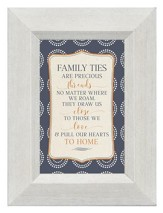 Family Ties are Precious Threads, Mini Framed Print