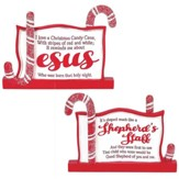 The Christmas Candy Cane Double Sided Tabletop Plaque