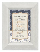 To My Aunt, Our Family's Filled with Gentle Hearts, Mini Framed Print
