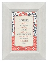 Sisters Side by Side or Miles Apart, Mini Framed Print