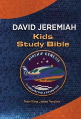 NKJV Airship Genesis Kids Study Bible--imitation leather,  blue/orange