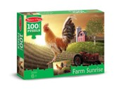 Sunrise Farm Jigsaw Puzzle, 100 Pieces
