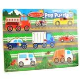 Vehicles Peg Puzzle, 8 Pieces