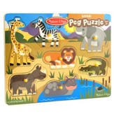 Safari Peg Puzzle, 7 Pieces