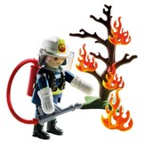 Firefighter with Tree