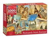 Postcards from Europe 1000 Piece Jigsaw Puzzle