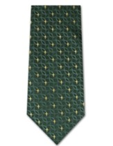 Fish & Cross, Green 2-ply Polyester Tie, Boxed