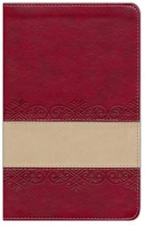 The KJV Prophecy Study Bible, Leather, imitation Red/Tan