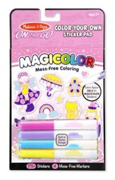 Color Your Own Sticker Activity Book, Pink