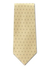 Mini Boxed Crosses, Yellow, Polyester Tie