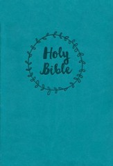 NKJV Reference Bible, Compact, Large Print, Imitation Leather, Blue, Red Letter Edition