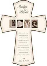 Personalized, Love Cross, Cream