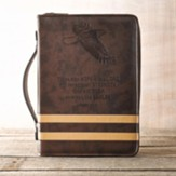 Eagle Isaiah 40:31 Bible Cover, Brown, Large