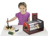 Roll, Wrap & Slice Sushi Counter, Pretend Play Activity Set
