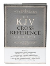 KJV Reference Study Bible hardcover, gray/tan