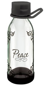 Peace I Leave With You Water Bottle, Medium