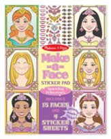 Make-a-Face Princesses Stickers Pad